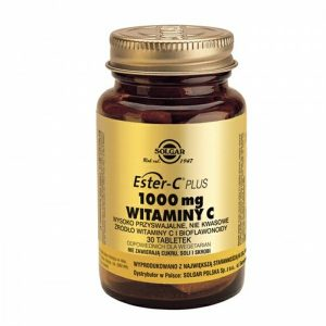 SOLGAR Ester C-Plus 1000 mgWitaminy C, 30 tabletek